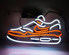 Sneakers Nike Sport Store Open Neon Signs Light Home Room Wall Artwork Poster Black And White Picture Wall, Black And White Pictures, Neon Light Signs, Led Neon Signs, Glow Run, Neon Shoes, Sneaker Bar, Nike Neon, Sign Lighting