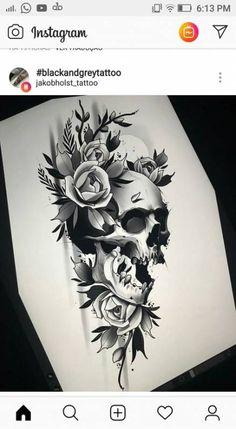 58 Ideas tattoo rose sketch ideas for 2019 Hibiscus Flower Tattoos, Skull Tattoo Flowers, Flower Tattoo Meanings, Skull Tattoos, Forearm Tattoos, Finger Tattoos, Rose Tattoos, Sleeve Tattoos, Skull Tattoo Design