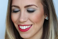 Red Lips & Gray Smoky Eye   Valentine's Day Makeup on #LivingAfterMidnite