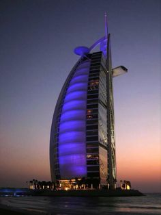 Top 15 Most Beautiful Buildings Around The World,Burj Al Arab, Dubai, UAE. I would killll to visit here Burj Al Arab, Unique Buildings, Amazing Buildings, Hotel A Dubai, Dubai Uae, Places To Travel, Places To Visit, Beautiful Architecture, Dubai Architecture