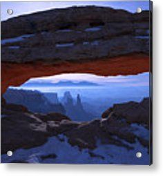 Moonlit Mesa Acrylic Print by Chad Dutson