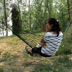 EarlyBirdSavings Meshy Rope Hammock Sleeping Net Bed for Hiking Nylon *** More info could be found at the image url. Note:It is Affiliate Link to Amazon.
