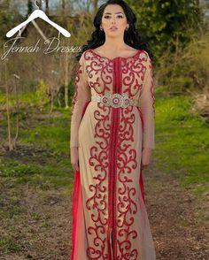 Very pretty red caftan❤️❤️ @jennah_dresses #love #wedding #caftan #kaftan #red…