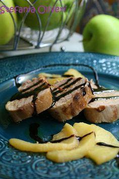Medaglioni di filetto di maiale alle mele verdi