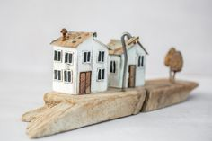 One of a kind Driftwood art house miniatures. Completly hand made from driftwood, reclaimed wood, nails and wires and other metal work details. Ships worldwide. driftwood art \ driftwood house \ driftwood cottage \ miniature house tiny house \ miniature wood house diorama houses \ Richi Driftwood Art