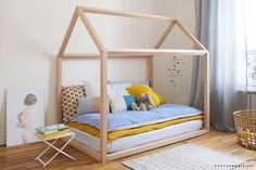 House shaped bed