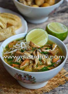 Diah Didi's Kitchen: Soto Kudus ( Resep Baru ) Asian Recipes, Healthy Recipes, Ethnic Recipes, Asian Foods, Healthy Food, Yummy Food, Food N, Food And Drink, Diah Didi Kitchen
