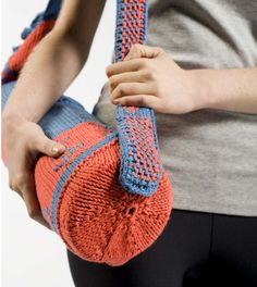 Pattern Now Available! Uma's Om #Yoga Bag - #knit it with a little cotton bamboo and namaste!