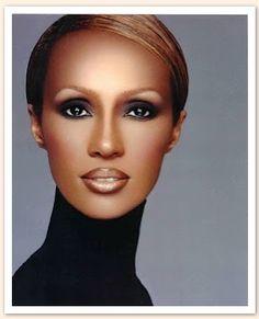 Get Iman's Ageless Beauty By Using Iman Cosmetics Sexy Smokey Eye, Smoky Eye, My Black Is Beautiful, Beautiful Eyes, Beautiful People, Beautiful Women, Top Models, Black Models, Iman Model