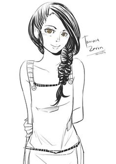 Tamara from the Magisterium The Iron Trial by Cassandra Clare and Holly Black (Drawn by http://aegisdea.tumblr.com/)