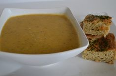 Gluten and Dairy Free Tomato and Courgette Soup with Wholemeal Sage Focaccia
