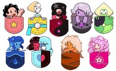 Steven Univers Pocket Stickers AND Gravity Falls by CheyDumpling