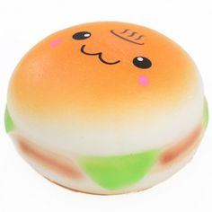 cute burger hamburger with face food squishy kawaii