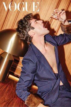 Supermodel Sean O'Pry Stars in Vogue Korea February 2018 Issue