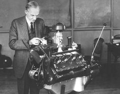 Henry Ford and his famous Flathead V8