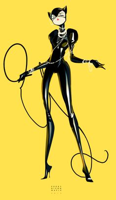 CATWOMAN YELLOW by Perry Maple