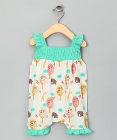 Take a look at this Origany Aqua Jungle Organic Ruffle Romper - Infant by Simply Organic Collection on #zulily today!