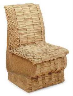 Corrugated Cardboard Chair frank gehry wiggle chair made of corrugated cardboard and