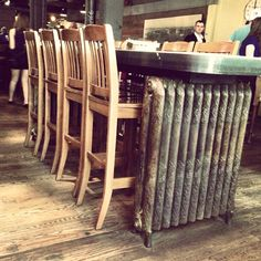 Such A Great Idea For Reusing Old Radiators! Check Out The Loose Moose In  Toronto