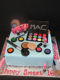42 Ideas Birthday Cake For Teens Cupcakes Awesome For 2019 2019 42 Ideas Birth. - Birthday cake - first birthday cake-Erster Geburtstagskuchen Birthday Cakes For Teens, Sweet 16 Birthday, First Birthday Cakes, 13th Birthday, Birthday Ideas, Make Up Torte, Make Up Cake, Sweet 16 Cakes, Cute Cakes
