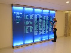 Columbia University Medical Center - CUMC Celebrates donor glass backlit wall panels just completed. Stunning.