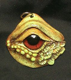 Blood Red Dragon Eye Pendant by mistyscreations on Etsy