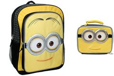 9aa773da608 Despicable Me Minions Movie Backpack with Matching Lunch Box - Minion  Mellow Yello Face Combo @. Geek GeschenkenRugzakken