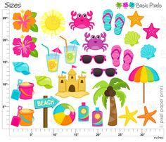 Beach Clipart 2 Digital Clip Art Personal and door basicpixels