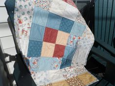 Quilt Baby boy Quilt Blue Quilt Crib Quilt  by Nanasewingroom, $60.00