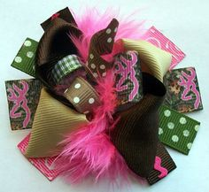 Camo Hair bow, Hair bows, Hairbow Browning Deer Hunter MINI Boutique Hair Bow-Funky Fun-Over The Top Deluxe Camouflage Hair Bow on Etsy, $5.99