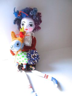 Jess Quinn - Clay art doll hand painted by JessQuinnSmallArt