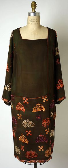1924-1926 silk Dress by Jessie Franklin Turner, American.  Via MMA.