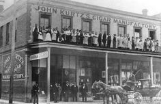 John Kurtz Cigar Factory on Government Street in 1885 Victoria City, Victoria Vancouver Island, Victoria British Columbia, Emily Carr, Interesting History, Best Cities, History Facts, Vintage Postcards, Cigar