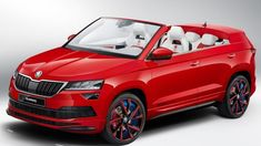 The Sunroq is a convertible Skoda Karoq designed by a team of Czech students. Do you like the concept of convertible SUVs? Volkswagen Golf Variant, Volkswagen Group, Crossover, Convertible, Super Fast Cars, Vw Scirocco, Vw Group, Bike News, Nissan Murano
