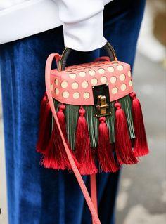 Royal blue and vibrant red #martiportfolio #handbags