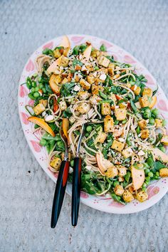Cool Vegan Noodle Salad with Tofu + Zingy Almond Butter Sauce | The First Mess