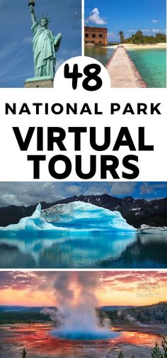 48 National Monuments & National Park Virtual Tours - The next best thing when you can't get to your favorite National Parks in person is to take in on - Monument National Park, Us National Parks, National Trust, Virtual Travel, Virtual Tour, Places To Travel, Places To See, Nationalparks Usa, Virtual Field Trips