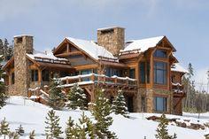 Log & Timber Frame Style Home Exterior... #LogHome #TimberHome