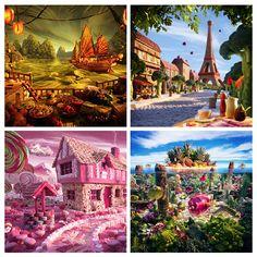 Resultado de imagem para paisagens com arvores coloridas