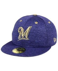 New Era Milwaukee Brewers 2017 All Star Game Patch 59FIFTY Cap - Blue 7 1/8