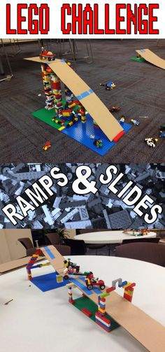 Lego Club Idea for Libraries--Grab some cardboard and make some ramps!!