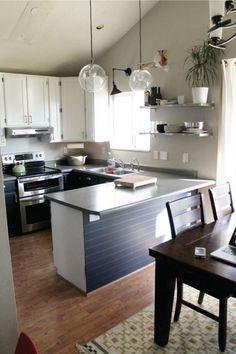 The New Kitchen Lighting (Or Fluorescent Be Gone!) | Chris Loves Julia