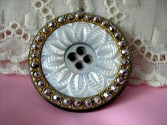 Vintage Carved Mother of Pearl button
