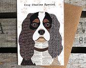 King Charles Spaniel Greetings Card
