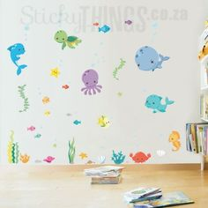 under_the_sea_bathroom_decal Bathroom Decals, Wall Stickers, Sea, Home Decor, Wall Clings, Decoration Home, Wall Decals, Room Decor, The Ocean