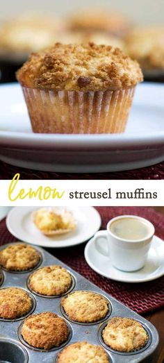 One-bowl lemon streusel muffins with a streusel topping   girlgonegourmet.com via @april7116