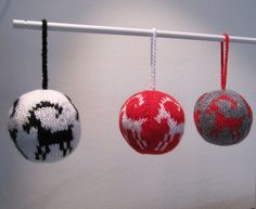 Christmas Goat Hand Knitted Christmas Decoration by KnitnWood