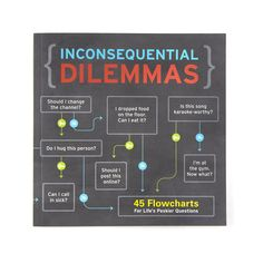 INCONSEQUENTIAL DILEMMAS | Inconsequential Dilemmas Book | UncommonGoods