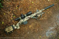 Suppressed bolt gun, a must for quiet hunting if you don't like archery.