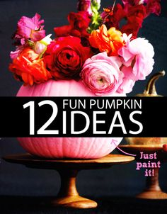 12 Fun Pumpkin Decorating Ideas. You've seriously got to check this pin out LOL! There's a pineapple pumpkin and it's sooo cute!! All these are great ideas!
